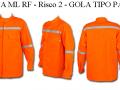 CAMISA ML  GOLA TIPO PADRE  - RISCO 2